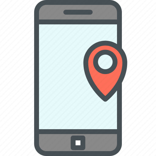 app, map pointer, mobile icon