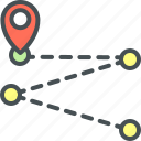 map pointer, route icon