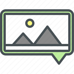 navigation, picture icon