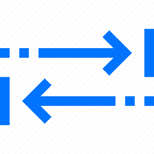 arrow, move, navigation, opposite, send, two, way icon