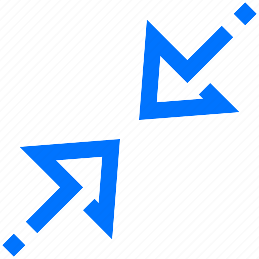 arrows, minimize, navigation, resize, shrink, size, small icon