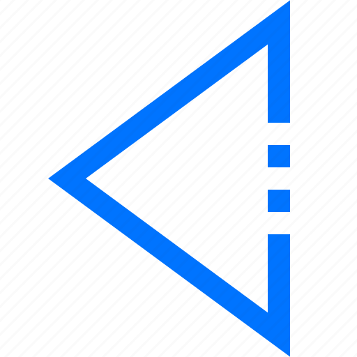 arrow, back, navigation, previous, triangle icon