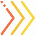 fast, speed, brackets, next, end, three, navigation icon