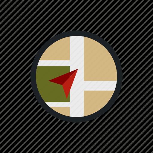 direction, map, navigator, pin, pointer, road, travel icon