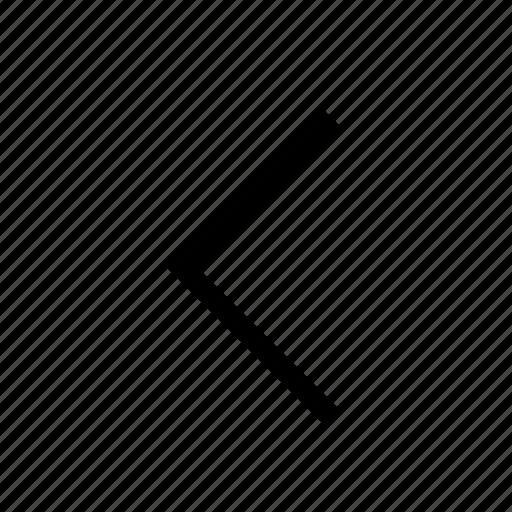 angle, arrow, direction, left, navigation, ui icon
