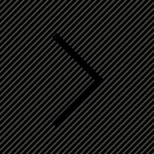 angle, arrow, direction, navigation, next, right, ui icon