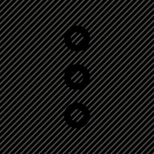 dots, ellipsis, menu, navigation, ui, vertical icon