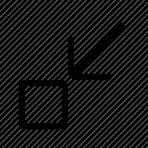 arrow, direction, down, minimize, navigation, ui icon
