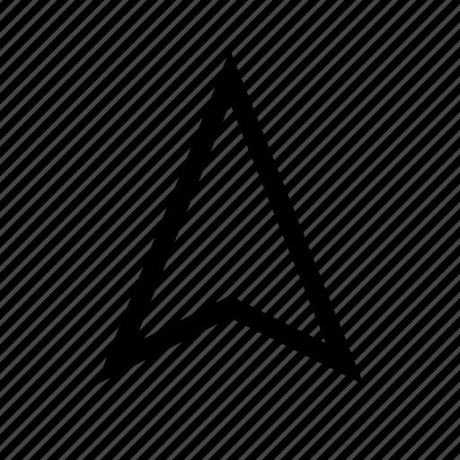 arrow, location, navigate, navigation, ui, up icon