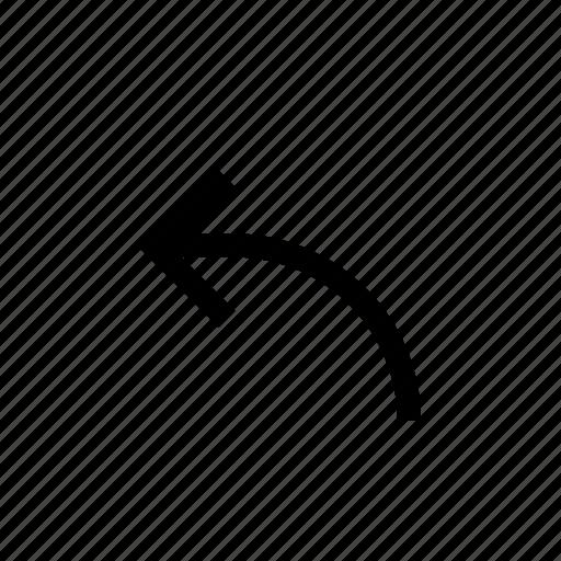 arrow, direction, left, navigation, ui, undo icon