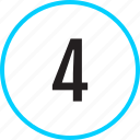chart, four, number, track icon
