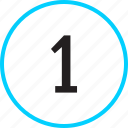 chart, number, one, track icon