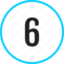 chart, number, six, track icon
