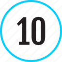 chart, number, ten, track icon
