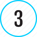 chart, number, three, track icon