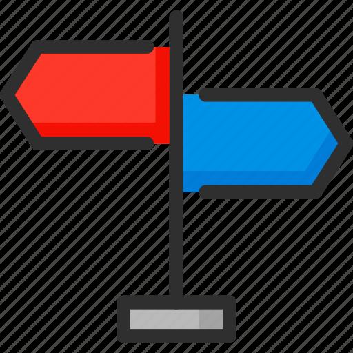 arrow, location, navigation, road, sign, way icon