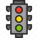 light, location, navigation, pass, road, street, traffic icon