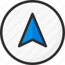 arrow, direction, location, navigation, way icon