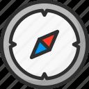 arrow, compas, location, navigation, way icon