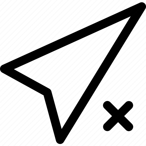 arrow, blocked, compass, direction, unavailable icon