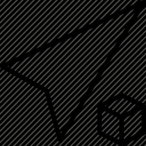 arrow, beacon, compass, cube, direction icon