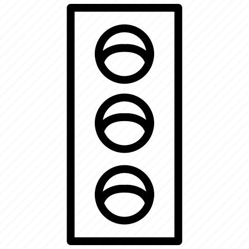 car, go, light, road, stop, traffic icon