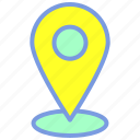 destination, location, map, navigation, pin icon