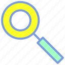 find, glass, magnifying, search, seo icon