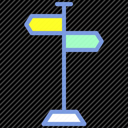 arrow, location, navigation, signpost, street icon