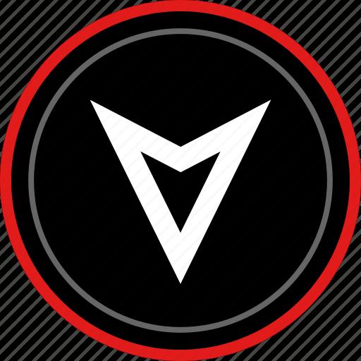 arrow, down, download, gps icon