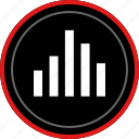 bars, beat, data, graph, report icon