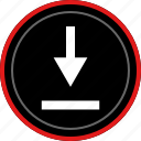 down, download, pointer, arrow, point
