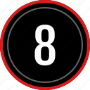 eight, number