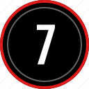 number, seven, ui, ux, 7 icon