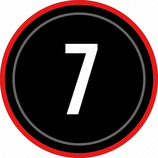 number, seven, ui, ux icon