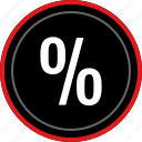math, number, numbers, percent, percentage icon