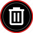 away, bin, can, delete, trash icon