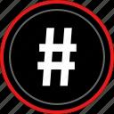 dial, hashtag, pound, sign icon