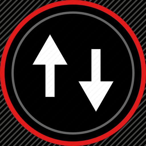activity, arrows, down, internet, up icon