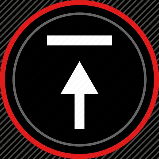 arrow, navigation, point, upload icon