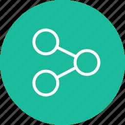 analyze, data, interface, nav, navigation, share, ui icon