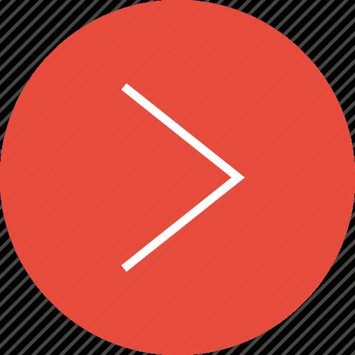 arrow, interface, nav, navigation, point, right, ui icon