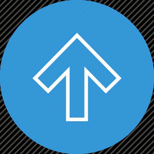 arrow, interface, nav, navigation, point, ui, up icon