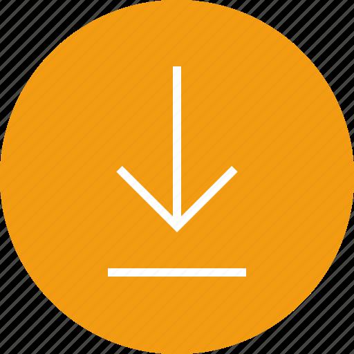 arrow, down, download, interface, nav, navigation, ui icon