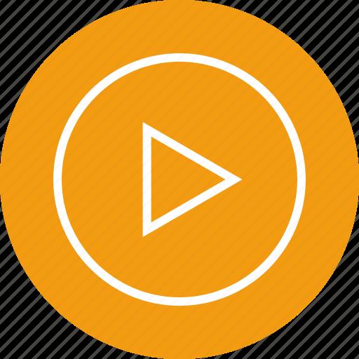 interface, nav, navigation, play, sign, ui, video icon