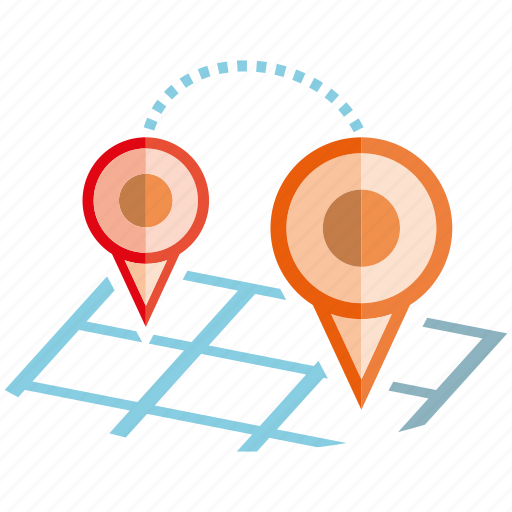 location, map, pin, pointer, travel icon
