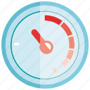gauge, measure, measurement, meter icon