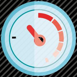 gauge, measure, measurement, meter icon
