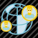 communication, globe, people, world