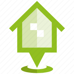 home, house, location, pin, pointer icon